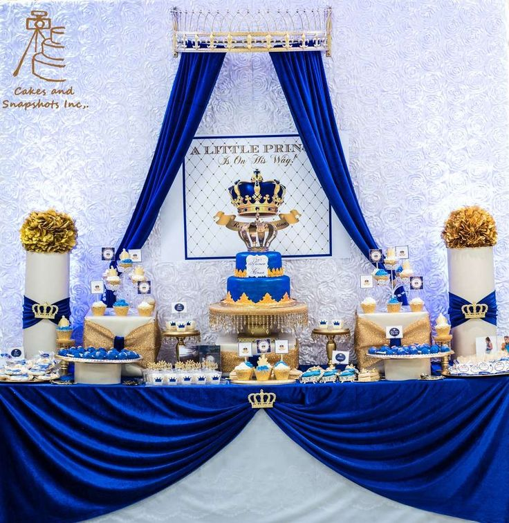 Royal Prince Baby Shower Party Ideas | Photo 2 of 26