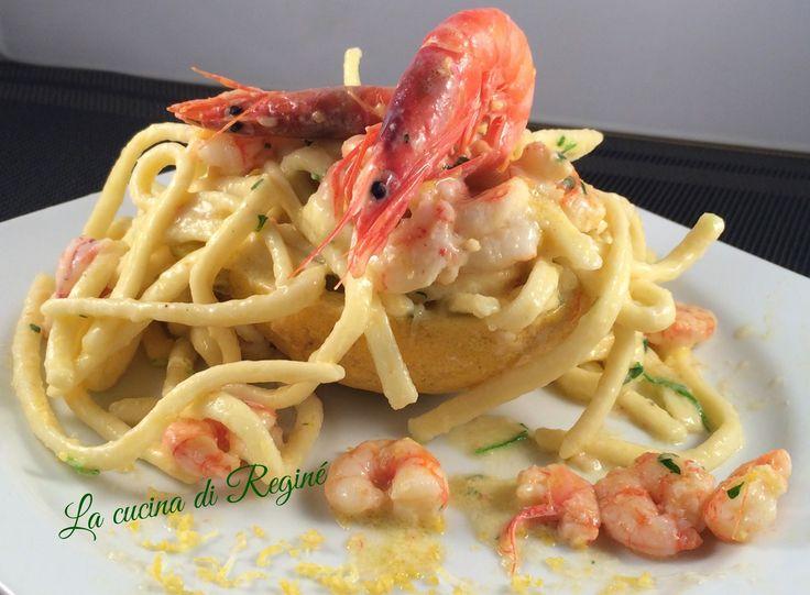 #Scialatielli ai gamberetti e limoni# La cucina di Reginé.