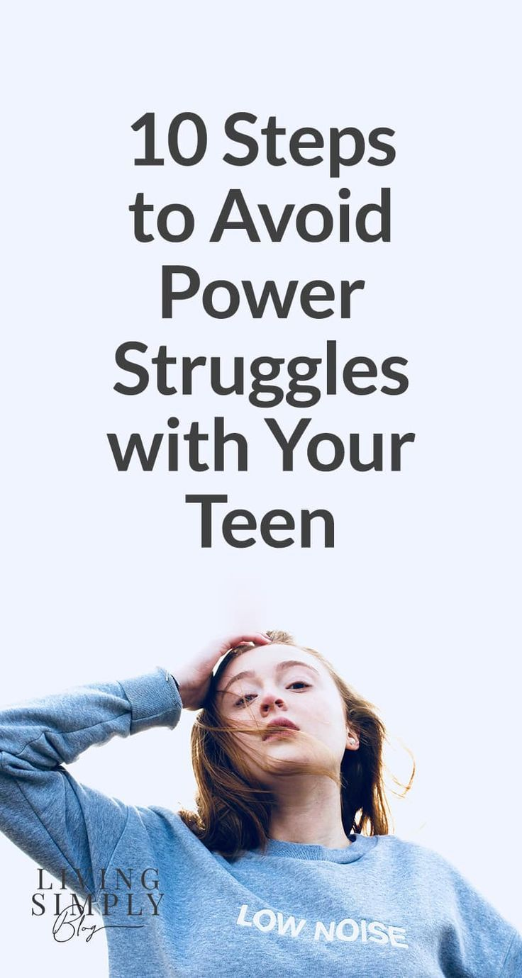 Power struggles with teens