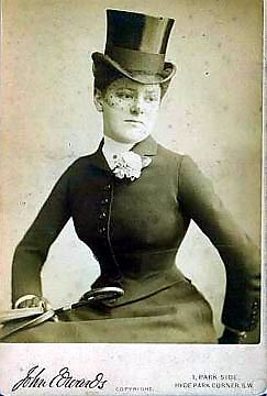 Riding habit c. 1880s - Can you imagine having to wear a getup like this to ride a horse?