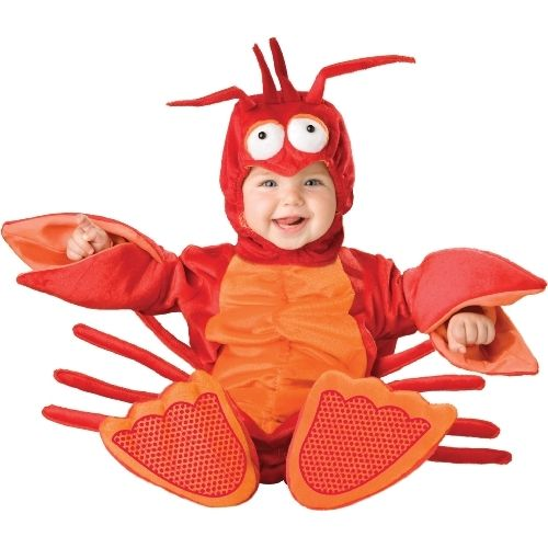 Baby Lobster Costume. (One of the cutest ideas I've seen this year is a parent dressed in a chef's costume, carrying Baby Lobster in a big cooking pot.)