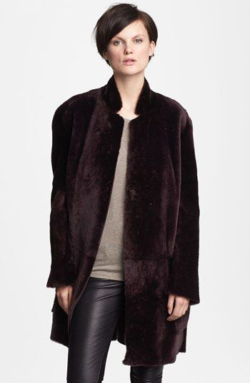 Vince Reversible Genuine Shearling Coat available at #Nordstrom