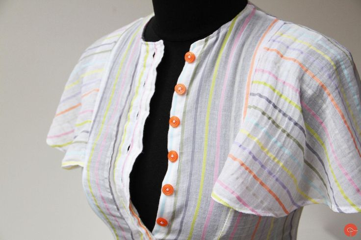 Blouse handmade sewed from a very old gauzey