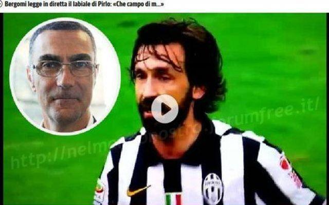 Bergomi legge in diretta il labiale di Pirlo che dice: Che Campo di Merda. Video #juventus #pirlo #derby #sky #bergomi #video