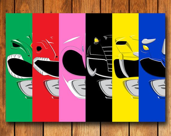 Its Morphin Time!    From the classic 90s TV show, The Mighty Morphin Power Rangers.    This poster is printed on premium heavyweight matte finished