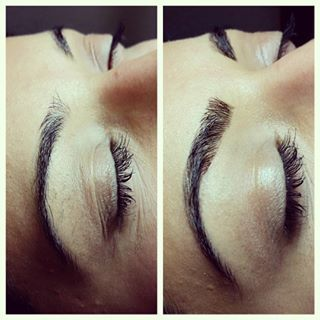 Or taming and reshaping fuller ones. | Women Are Getting Eyebrow Extensions And The Results Are Totally Mind-Blowing