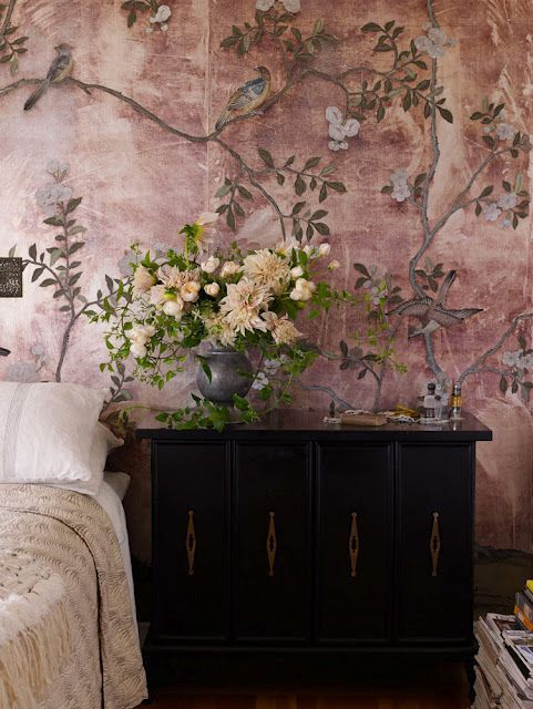Die besten 25+ Blumentapeten Ideen auf Pinterest Blumendruck - tapeten wohnzimmer ideen 2013