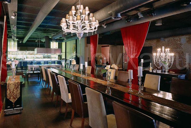 обеденный зал интерьер в стиле лофт / loft interior design Архитектурное бюро Шаболовка