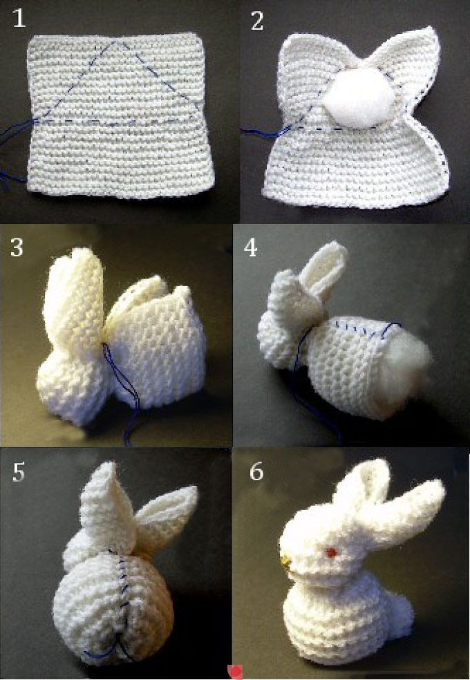 A quick bunny to knit or crochet and add to a baby gift.<<This is so brilliant! And you could totally either knit or crochet it!