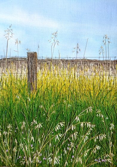 My Sweet Prairie thread painting.                                                                                                                                                     More