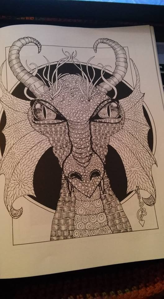 Dazzling Dragons: Adult Coloring Book by Laurie Beauchamp
