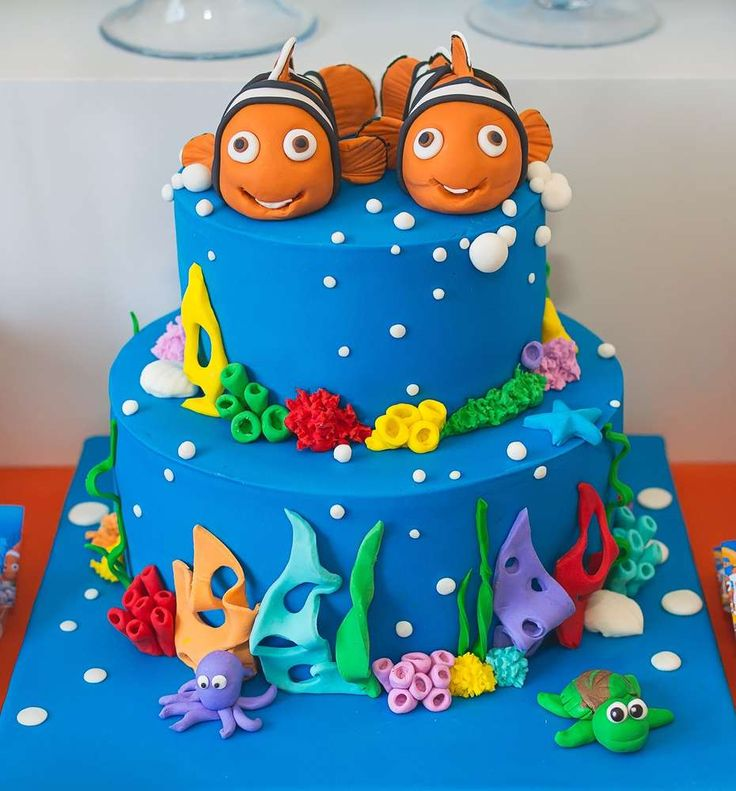 Best Finding Dory  Finding Nemo Party Ideas Images On - Finding nemo birthday cake