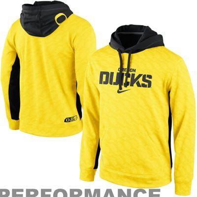Nike Oregon Ducks KO Performance Tonal Hoodie - Yellow