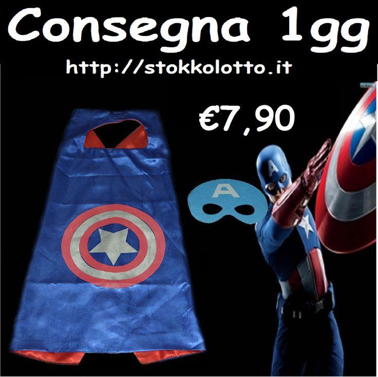 €7,90 - Captain America costume maschera carnevale economico bambini taglia misura 3 4 5 6 anni travestimento festa a tema Avengers poco prezzo http://stokkolotto.it #avengers #costume #costumecaptainamerica #captainamerica #carnevale #costumecarnevale