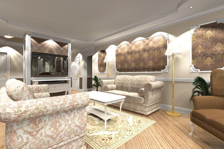 гостиная для большой семьи | гостиная в бежево-коричневом цвете | дизайн гостиной | гостиная в неоклассическом стиле | Концептуальный дизайн | Ron's Сoncept | Вероника Дзюба | Частные интерьеры