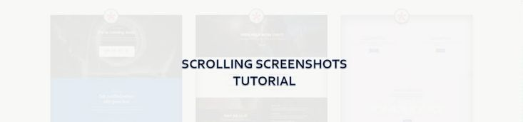 Divi scrolling screenshot tutorial shows you how to recreate the scrolling screen on the Divi Theme Examples layouts page.