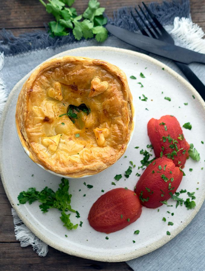 Easy Scallop and Prawn Curry Pies with Smoked Tomatoes