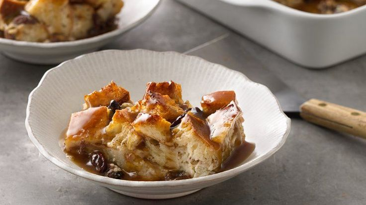 Bread Pudding with Bourbon Sauce.  A classic recipe for bread pudding lovers everywhere!