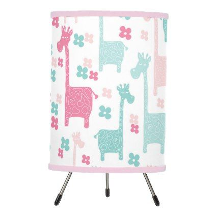 Giraffe Pink Mint Aqua Teal Lamp  $48.55  by Kookyburra  - cyo customize personalize diy idea
