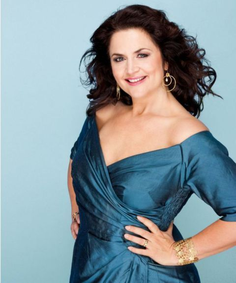 Ruth Jones transforms into glamorous cover girl as she shows off slim figure