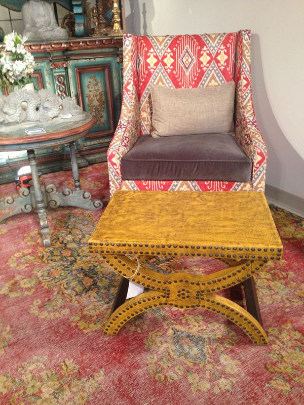 Orange in bold pieces like sofas and chairs is #trending this  #Fall
