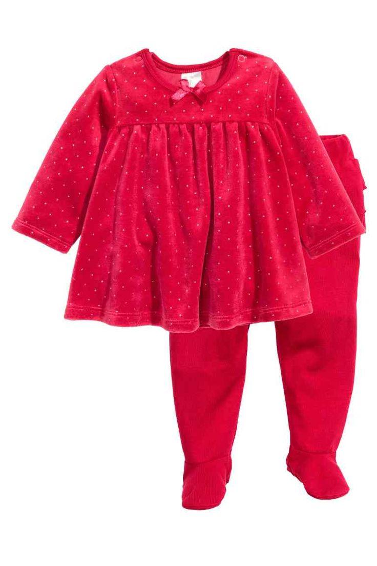 Robe en velours et pantalon | H&M