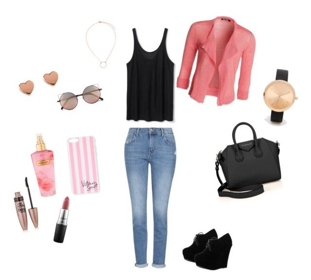"""""""Girly Back to school"""" by adrianaadd on Polyvore featuring moda, NIC+ZOE, Topshop, Forever Link, Givenchy, Linda Farrow, Victoria's Secret, Ted Baker, H&M e ASOS"""