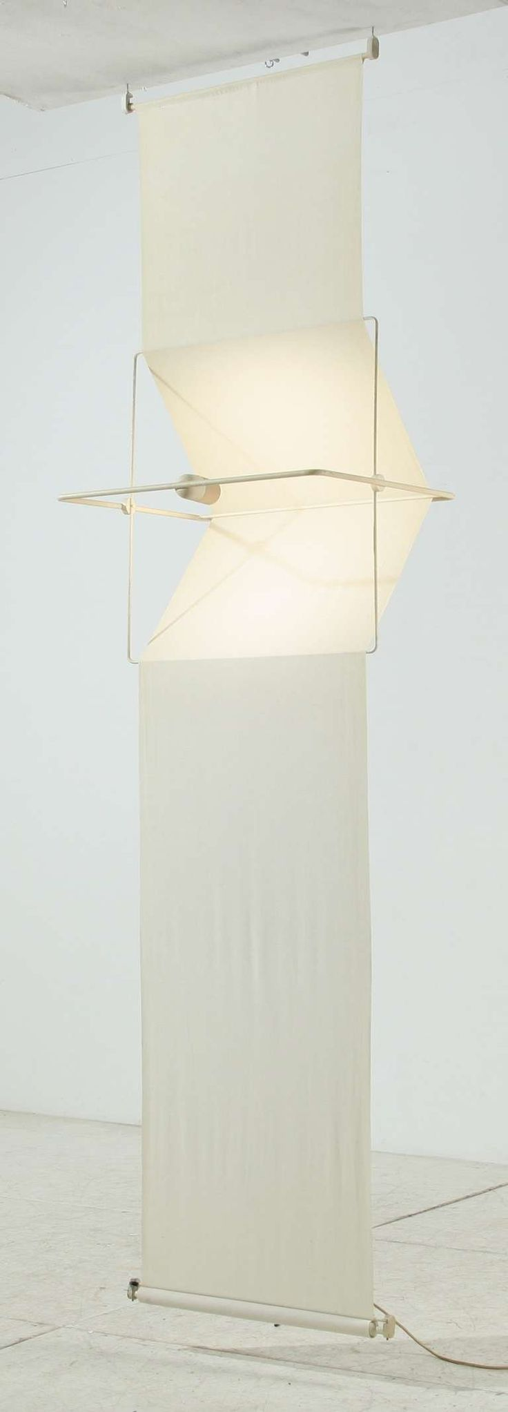 Rare Quinta Lamp and Room Divider by Silvio Coppola, Artemide, Italy, 1970s