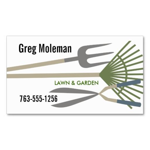 Landscaping Lawn Garden Tools Business Cards