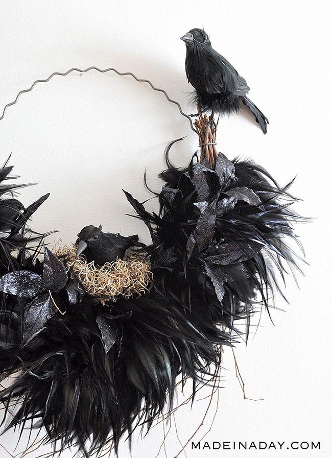 Ravens Nest Halloween Wreath Scary Halloween Decorations Halloween Wreath Halloween Crow Decoration