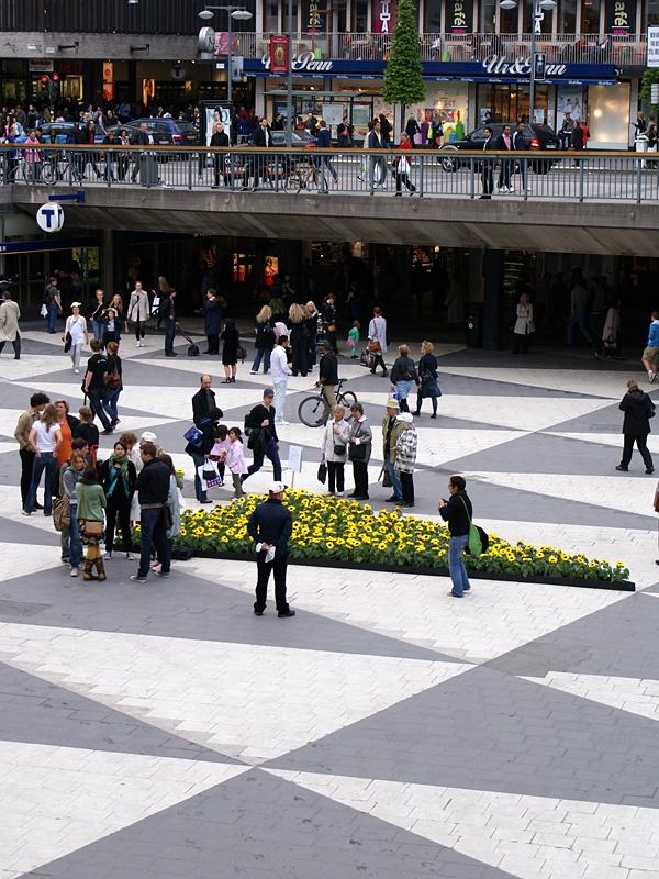 "Guerilla gardening at ""plattan"" in Stockholm"