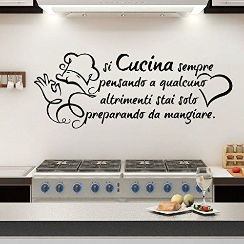 Wall sticker Frase Si Cucina sempre pensando a qualcuno..... https://www.amazon.it/dp/B01AKIQBMW/ref=cm_sw_r_pi_dp_x_vZuayb87JBYDK