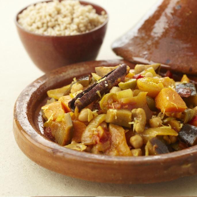 Geurige Marokkaanse tajine   Vegetarische kookstudio