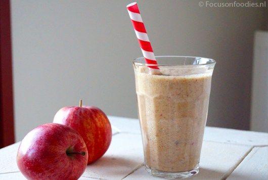 appel kaneel smoothie suikervrij zuivelvrij