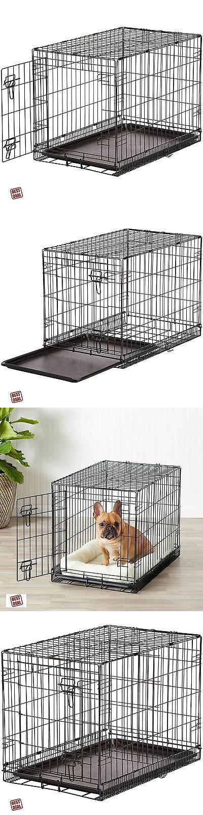 Cages and Crates 121851: Dog Kennel Crate Medium 30 Heavy Duty Metal Door Folding Pet Cage Portable New BUY IT NOW ONLY: $41.98