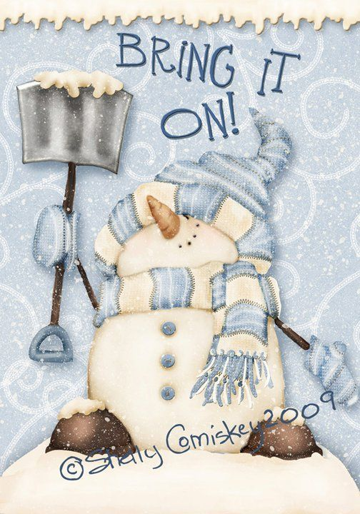 Google+ Inspiration for snowman craft and cute saying. Winter craft