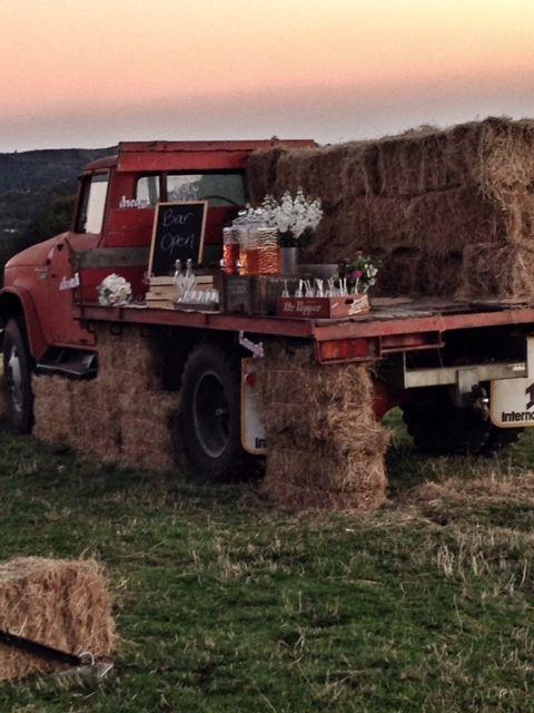 What a great idea for a rustic bar! Jonkers Farm wedding - www.jonkersfarm.co.nz