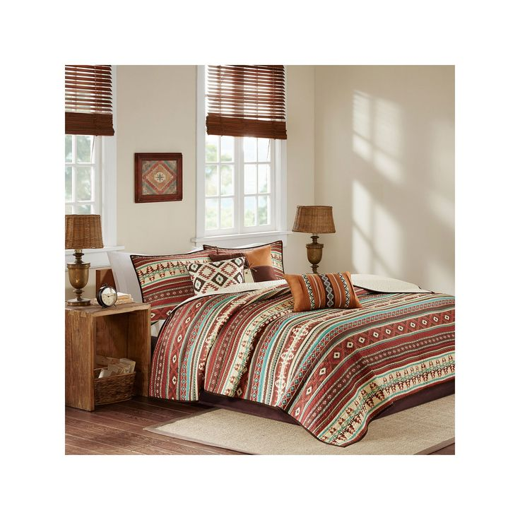 Madison Park 6-piece Davy Quilted Coverlet Set, Orange