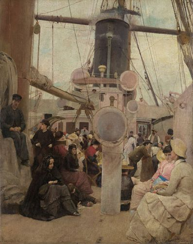 Tom Roberts - Coming South 1885-86  Painting from sketches while aboard the S.S. Lusitania, travelling from England to Australia