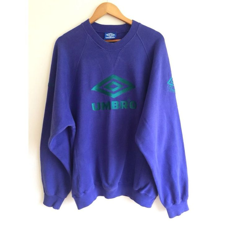 Vintage oversized rare Umbro jumper 90's Pro Training Sweatshirt Sportsware in Clothes, Shoes & Accessories, Vintage Clothing & Accessories, Men's Vintage Clothing | eBay