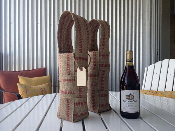 jute webbing wine bags