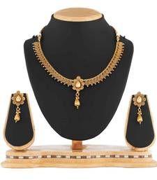 Buy Antique Golden Copper Necklace Set For Women necklace-set online