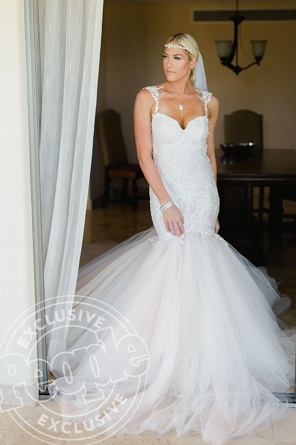 Barbie Blank Marries Sheldon Souray: See Her Wedding Dress Photos – Style News - StyleWatch - People.com