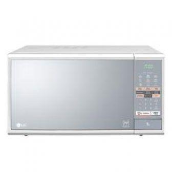 Microondas LG Easy Clean 30 Litros Branco e Espelhado MH7044L