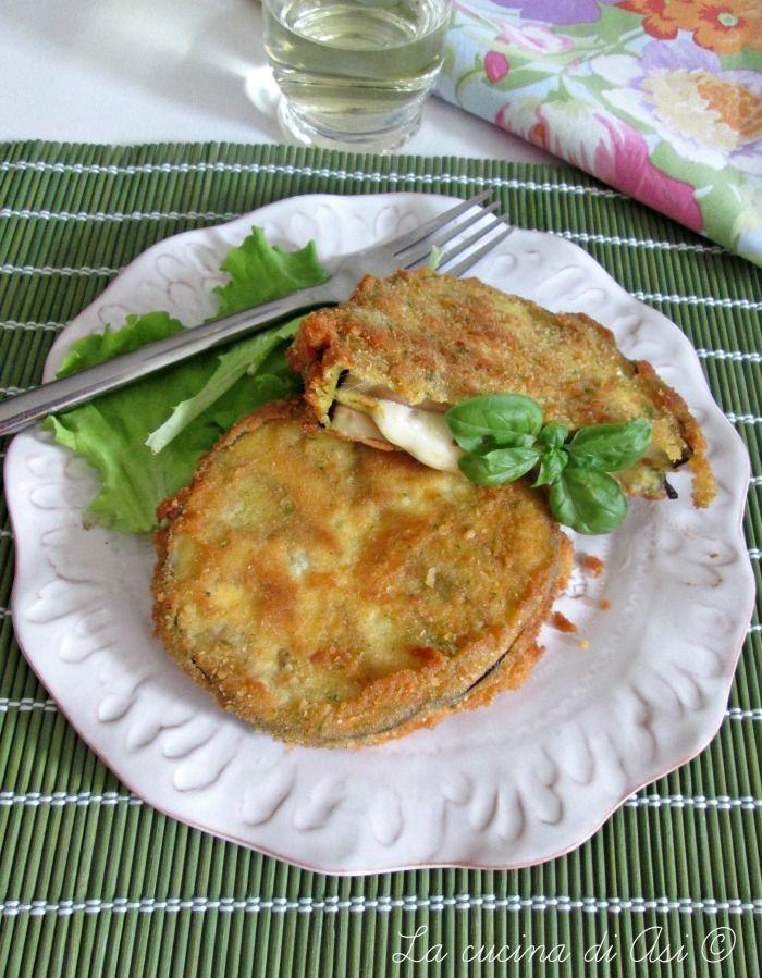 cotoletta di melanzane mozzarella acciughe La cucina di ASI ©