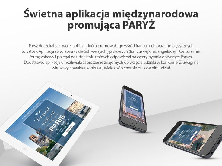 Świetna aplikacja międzynarodowa promująca PARYŻ #migomedia