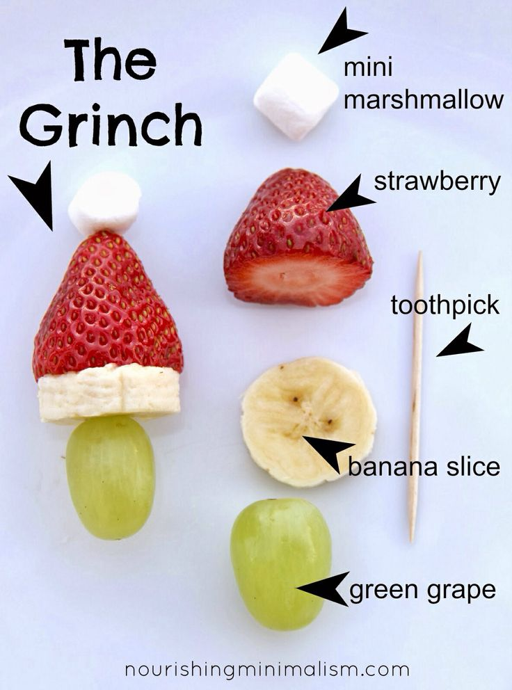 Grinch Kabobs: Classroom Christmas Parties