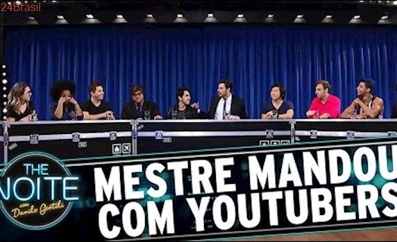Mestre Mandou com Castanhari, Muca Muriçoca, Pyong Lee, Pathy dos Reis e Zoio | The Noite (08/03/17)