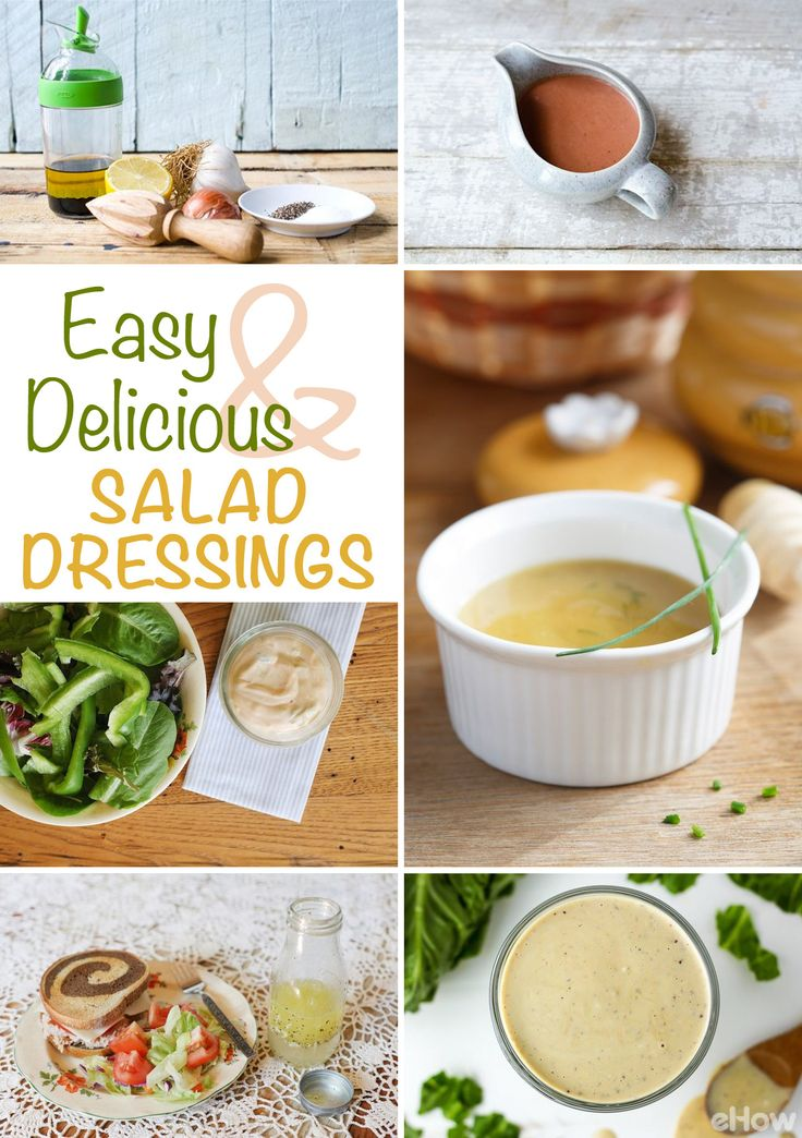 The easiest way to take a salad from boring to flavorful is in the dressing! Learn to make your own balsamic, ranch, thousand island and others like roasted strawberry vinaigrette! DIY your very own with these 9 easy recipes: http://www.ehow.com/info_8562635_different-kinds-salad-dressing.html?utm_source=pinterest.com&utm_medium=referral&utm_content=curated&utm_campaign=fanpage