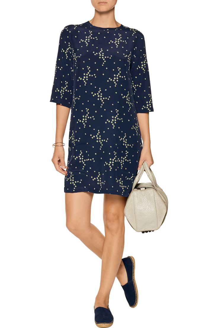 Shop on-sale Equipment Aubrey star-print washed-silk mini dress. Browse other discount designer Dresses & more on The Most Fashionable Fashion Outlet, THE OUTNET.COM